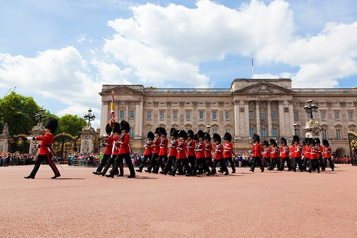 The Changing of the Guard in Buckingham Palace